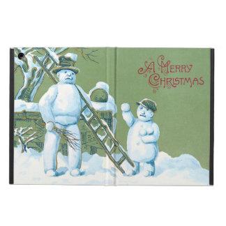 Snowman Father And Son Snow Ladder Snowball iPad Air Case