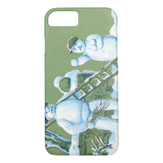 Snowman Father And Son Snow Ladder Snowball iPhone 7 Case