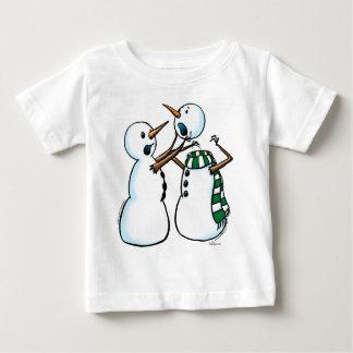 snowman fight infant t-shirt