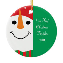 Snowman First Christmas Together Ornament