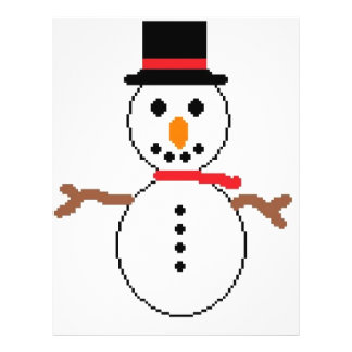 snowman flyer design