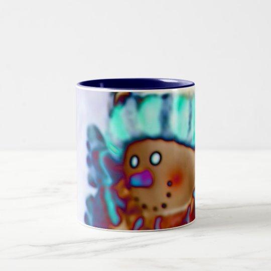 Snowman Foil Holiday Coffee Mug