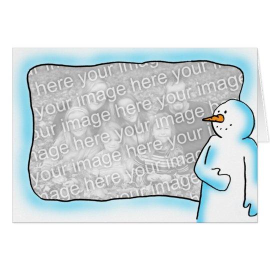 Snowman Frame Card