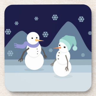 Snowman Friends Beverage Coaster