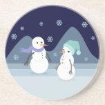 Snowman Friends Beverage Coasters