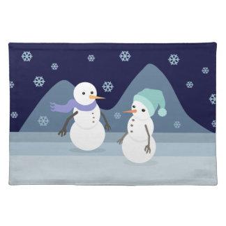 Snowman Friends Cloth Place Mat