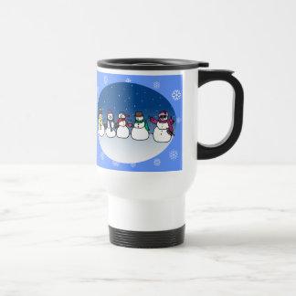 Snowman Fun 15 Oz Stainless Steel Travel Mug