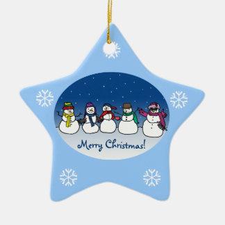 Snowman Fun Christmas Tree Ornaments
