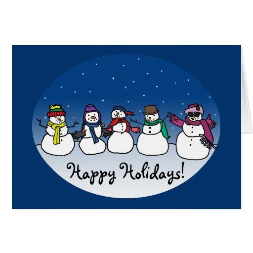 Snowman Fun Greeting Card