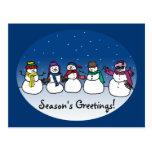Snowman Fun Postcard