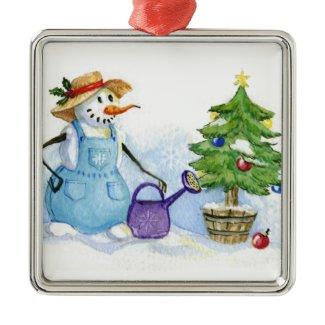 Snowman-gardener Christmas Tree Ornament