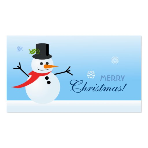 Snowman Gift Tag Business Card