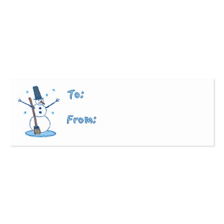Snowman Gift Tags Business Card Template