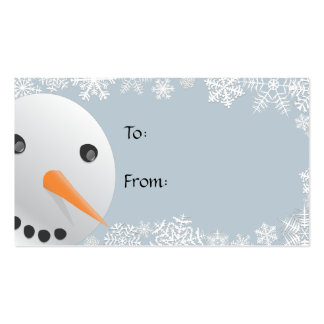 Snowman Gift Tags Business Card