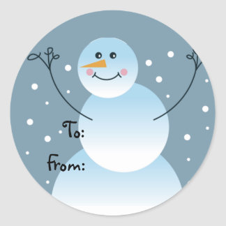 Snowman Gift Tags Stickers