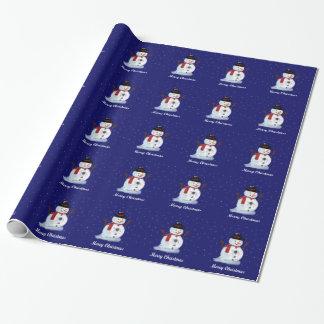 Snowman Gift Wrap Paper