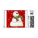 Snowman Gifts Postage Stamps