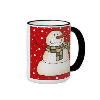 Snowman Gifts Ringer Mug