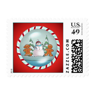 SNOWMAN & GINGERBREAD KIDS by SHARON SHARPE Postage
