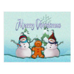 SNOWMAN & GINGERBREAD MAN by SHARON SHARPE Postcards