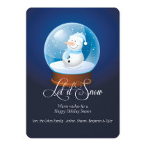 Snowman Globe Holiday Card