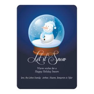 Snowman Globe Holiday Card
