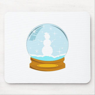 Snowman Globe Mouse Pads