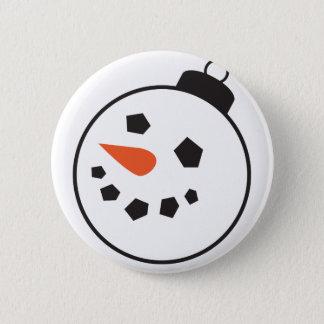 Snowman Globe Pinback Button