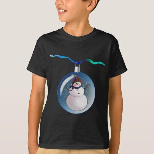 SNOWMAN GLOBES by SHARON SHARPE T-Shirt