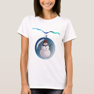SNOWMAN GLOBES by SHARON SHARPE T-Shirt