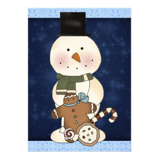 Snowman & Goodies Party Invitation