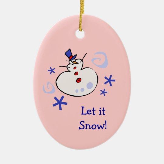 Snowman Granddaughter Christmas Ornament