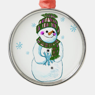 Snowman Granny Christmas Tree Ornament