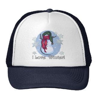 Snowman Green Hat Blue