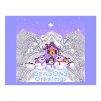 Snowman Greeting Cards Post Cards