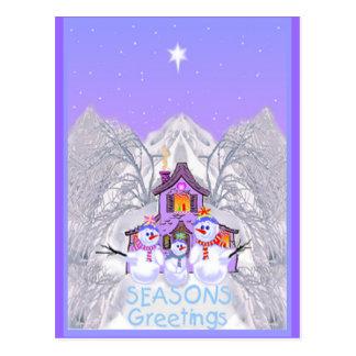 Snowman Greeting Cards Postcard