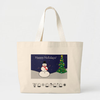 Snowman Hand Tote
