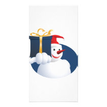 Snowman hands over gift... card