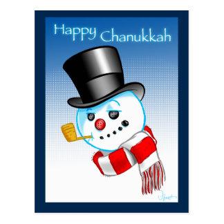 Snowman Happy Chanukkah Postcard