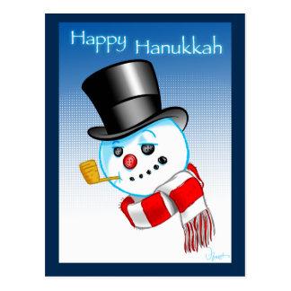 Snowman Happy Hanukkah Postcard