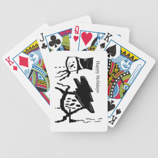 SNOWMAN HAPPY HOLIDAYS Bicycle Playing Cards