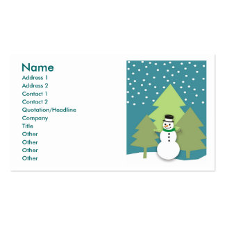 Snowman Happy Holidays Business Cards