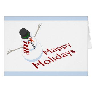 Snowman Happy Holidays Card