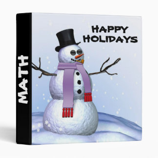 Snowman, HAPPY, HOLIDAYS christmas binder