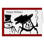 SNOWMAN HAPPY HOLIDAYS Greeting Card