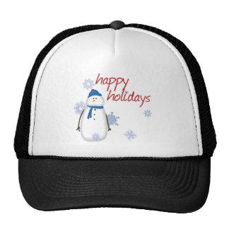 Snowman Happy Holidays Hat