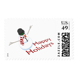 Snowman Happy Holidays Postage