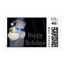 Snowman Happy Holidays Postage