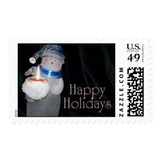 Snowman Happy Holidays Postage Stamp