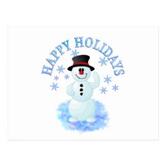 Snowman Happy Holidays Postcard